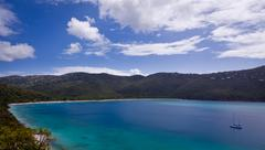 magens bay on st thomas usvi - stock photo