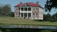 Drayton Hall plantation, South Carolina, USA - stock footage