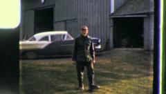 DIARY FARMER Barnyard Portrait 1960 (Vintage Film Home Movie Amateur) 3433 Stock Footage