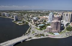 downtown west palm beach - stock photo