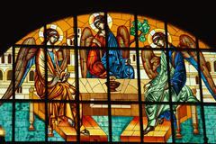 Orthodox stained glass Stock Photos