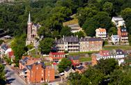 Stock Photo of aerial view harpers ferry national park