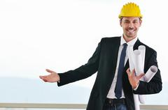 young architect portrait - stock photo