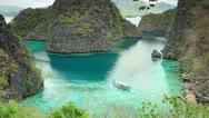 Coron lagoon landscape Stock Footage