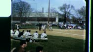 Pitcher Batter Men Play BASEBALL Game Players 1960s Vintage Home Movie Film 3438 Stock Footage