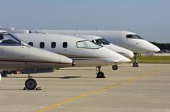 Jet aircraft Stock Photos