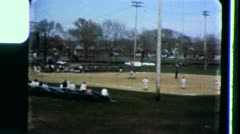 BASEBALL Minor League Players 1965 (vintage Home Movie videomateriaali) 3441 Arkistovideo