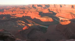 Desert Canyon sunrise Time-Lapse from Dead Horse Point State Park Utah near Moab Stock Footage