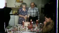 WEDDING OLD Elderly Couple 50th Anniversary 1960s Vintage Film Home Movie 3446 Stock Footage