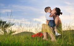 Stock Photo of woman child outdoor