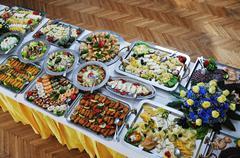 buffet food - stock photo