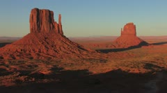 Monument Valley SunSet TimeLapse shadow movement Stock Footage