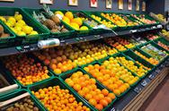 Stock Photo of fresh fruits in supermarket