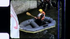 Middle Aged Man Athlete River Rafting Sports 1970s Vintage Film Home Movie 3465 Stock Footage