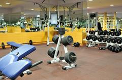 Fitness club gym Stock Photos