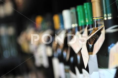 Stock photo of bottle of wine