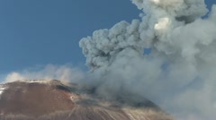 Tungurahua volcano in Ecuador, high-pressure gasses and ash is blown into the Stock Footage