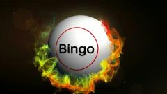 Bingo text red OK Stock Footage