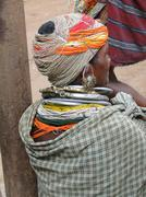 Stock Photo of bonda tribal woman poses for a portrait