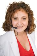 Woman hotline operator Stock Photos