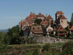 Medieval town and walls .. Stock Photos