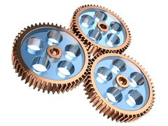 Stock Illustration of gear system
