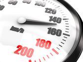 Close-up of speedometer Stock Illustration