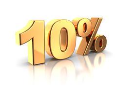 10 percent - stock illustration