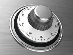 safe dial - stock illustration