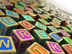 Childish cubes Stock Illustration