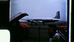 AMERICAN AIRLINES AIRPORT Passenger Plane 1960s (Vintage Film Home Movie) 3491 Stock Footage