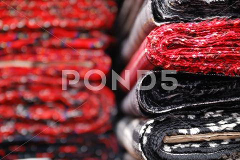 Stock photo of fabric samples