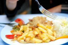 pommes frites - stock photo
