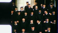 COLLEGE GRADUATION Class of 1957 (Vintage Old Film Home Movie Footage) 3505 - stock footage