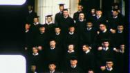 Stock Video Footage of COLLEGE GRADUATION Class of 1957 (Vintage Old Film Home Movie Footage) 3505