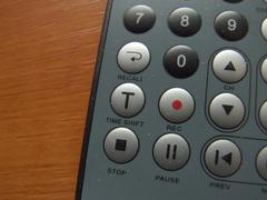 thin remote closeup - stock photo