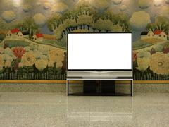 Big plasma screen with empty space to write message Stock Photos