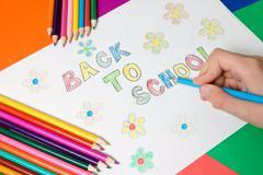 Back to school concept Stock Photos