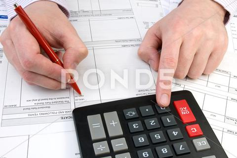 Stock photo of bookkeeper