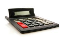 black calculator - stock photo