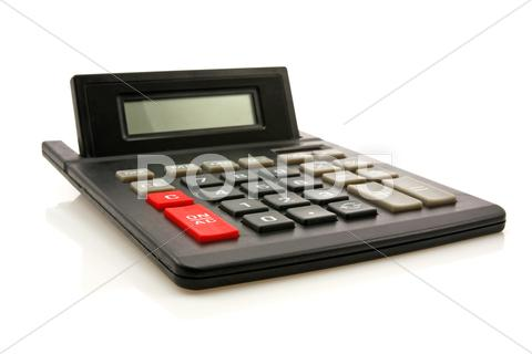 Stock photo of black calculator