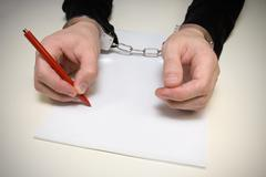 confession of the crime - stock photo