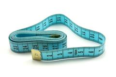 Stock Photo of blue measure tape