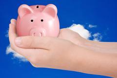 money saving concept - stock photo