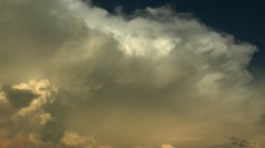Rain Clouds Blow In Time Lapse Stock Footage