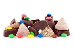 Pile of various sweets Stock Photos