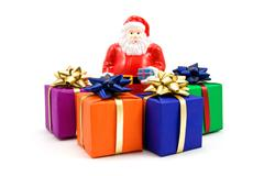 Stock Photo of santa and gifts