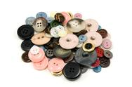 Stock Photo of pile of various sewing buttons