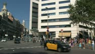 Stock Video Footage of Traffic downtown Barcelona
