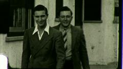 Young Man Men in Suits Dressed to Kill 1940s Vintage Film Retro Home Movie 3532 Stock Footage